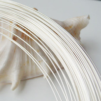 Silver Wire 1 2mm 17 Gauge Round Solid 925 Sterling Silver Wire For Jewelry DIY Beading