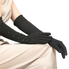 Spun Velvet Woman Gloves Cuff Female Autumn Winter Five Finger Gloves Knitted Thickening Warm Arm Sleeve Warmers BL023N1