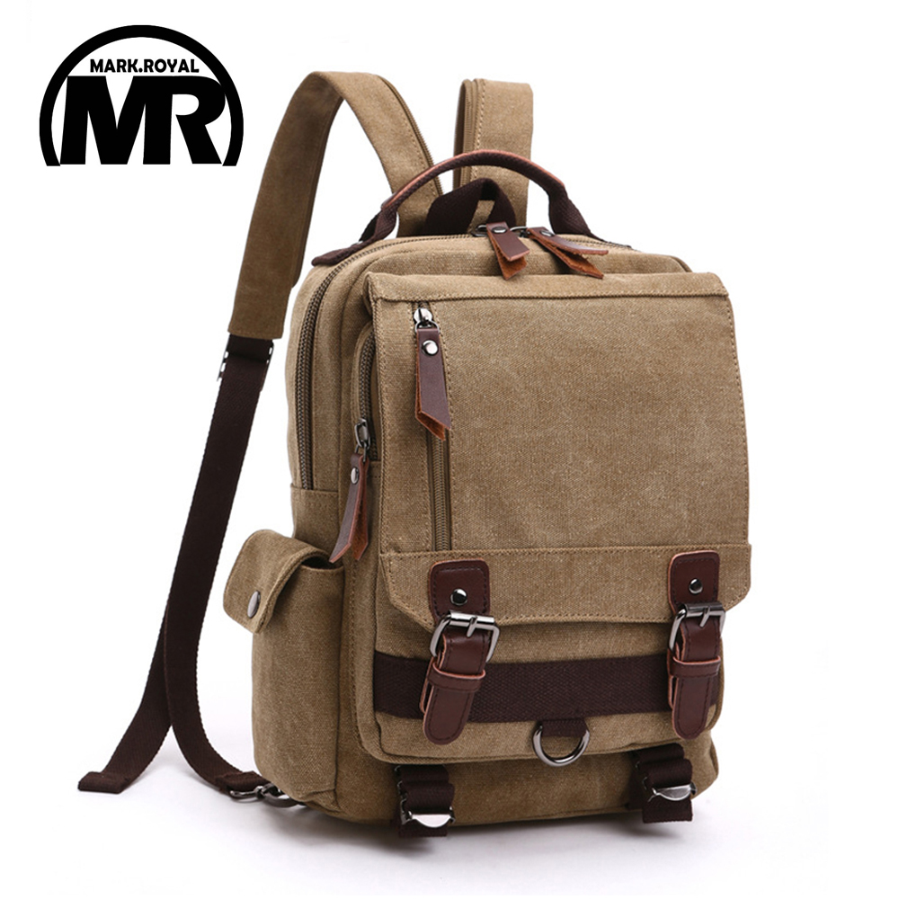 MARKROYAL Fashion Leisure Women Backpack Men Shoulder Bag Casual Canvas Mochila School Bags Rucksack For Teenage Girls aosbos fashion portable insulated canvas lunch bag thermal food picnic lunch bags for women kids men cooler lunch box bag tote