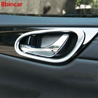 Bbincar ABS Chrome Matte Interior Door Handle Bowl Protecting Cover Trim Styling 4Pcs For Nissan Tiida