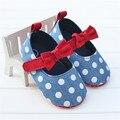 Детские Малыш Обувь Новорожденных Весна Осень Симпатичные Бантом Горошек Детская Обувь Младенцев Мягкой Подошвой Обувь sapato menina