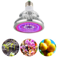 Switchable 50W Growing Lamp Full Spectrum E27 High Power LED Grow Light For Indoor Hydroponics Seeding Vegetables Flowering Tent
