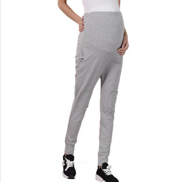 Spring Autumn Elastic Waist Maternity Leisure Trousers for Pregnancy Clothes for Pregnant Women Pants with Pockets