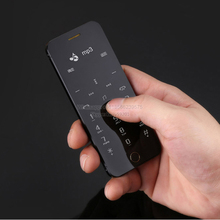 Anica A9+ Remote control MP3 FM dual sim card dial sync OLED display anti-lost mini Ultrathin credit card cell mobile phone P246