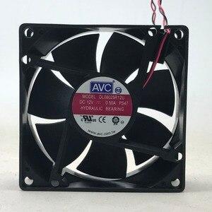 Image 2 - Dla AVC 8025 80mm x 80mm x 25mm DL08025R12U łożysko hydrauliczne chłodnica wentylator 12V 0.50A 2 drutu 2Pin złącze