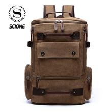 Men's Backpack Vintage Canvas Backpack School Bag Men's Travel Bags Large Capacity Backpack Laptop Backpack Bag High quality