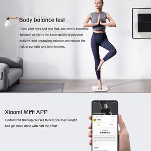 Image 5 - שיאו mi mi jia mi הרכב בקנה מידה 2 חכם גוף שומן משקל סולם Bluetooth דיגיטלי אלקטרוני LED איזון APP נתונים ניתוח