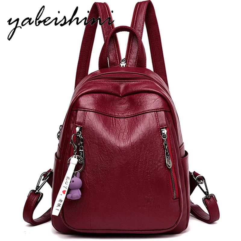 Multifunctional Women's Backpack Combination Shoulder Strap School Girl Backpack Ladies Travel Leather Backpack Shoulder Bags