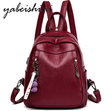 Multifunctional womens backpack Combination shoulder strap School girl Ladies travel leather Shoulder Bags