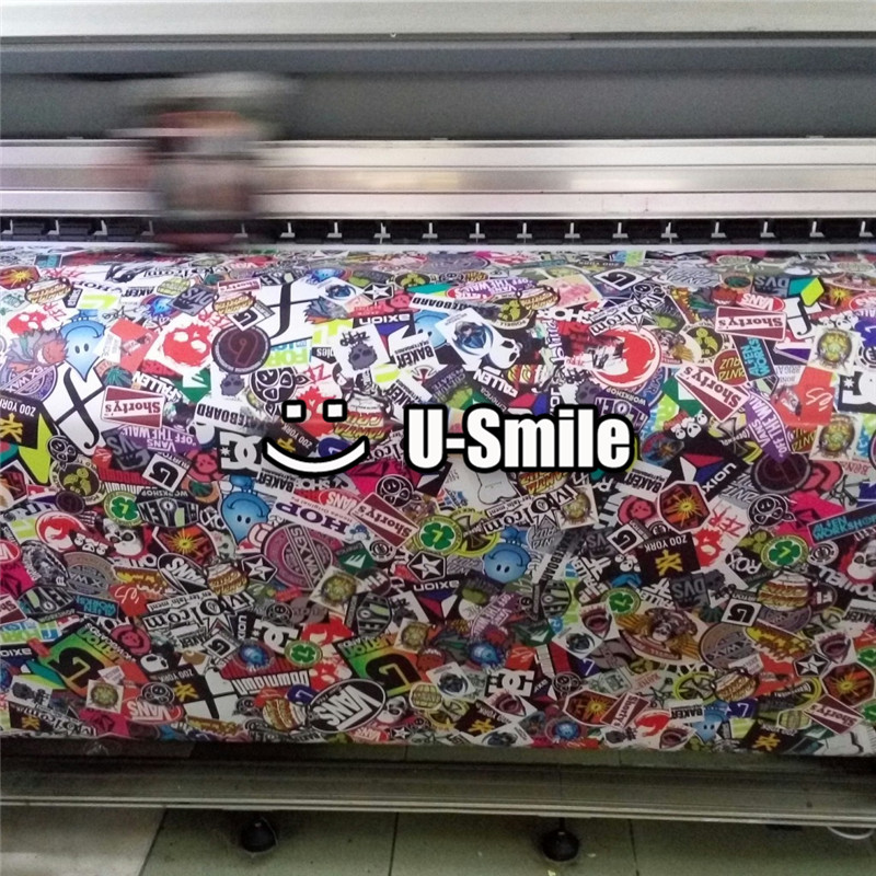Фото Wrap Vinyl Sticker Bomb Sheet Graffiti Air Free Vehicle Wrap Graphics For Car Graphics Motorcyle Mcabook 30M/Roll