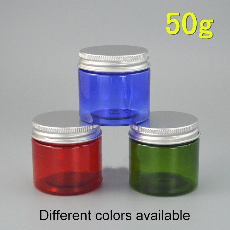 Güzellik ve Sağlık'ten Doldurulabilir Şişeler'de Yeşil Mavi Kırmızı 50g Plastik Boş Kozmetik krem kavanozu Doldurulabilir Maskesi Losyon Konteynerler Temizle Hap ilaç şişesi Ücretsiz Kargo'da  Grup 1
