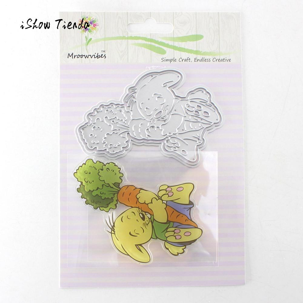 Cute Animal Clear Stamp Metal Cutting Die for DIY Scrapbooking Photo Album Decor