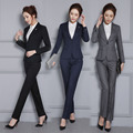 Formal Professional Work Wear Suits With Jackets And Pants Autumn Winter Pants Suits for Business Women LadiesTrousers Set