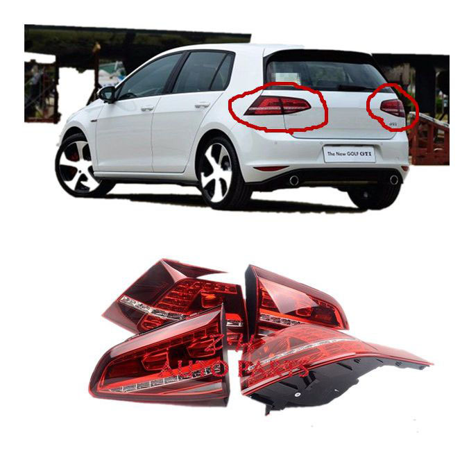 NEW LED Tail Light Assembly Tail Lamps Taillights For VW Golf GTI GTD MK7 5G0 945 207 5G0 945 208 5G0 945 307F/G 5G0 945 308F/G new high quality 1 piece led dark red tail lamp tail light right fit for vw golf gti r mk7 2013 2016 5g0 945 208 5g0945208