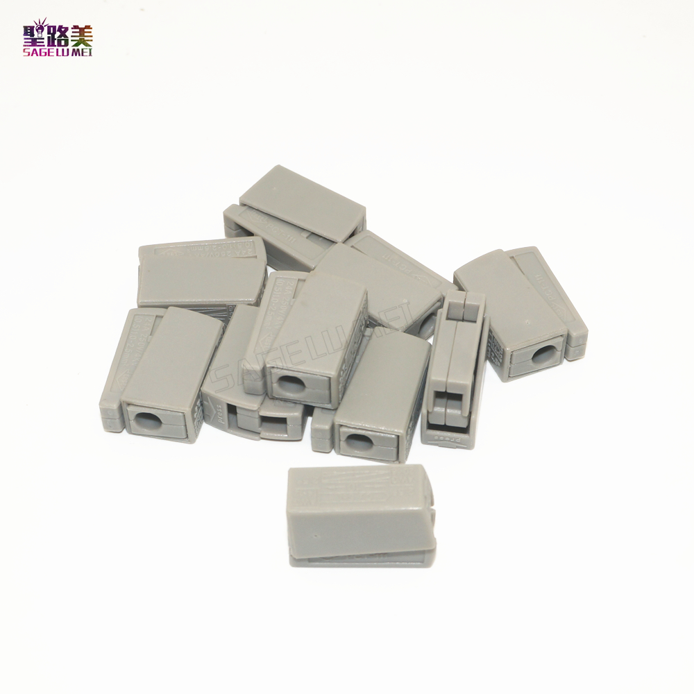 цена на Wholesale 20 PCS WAGO Push Wire Wiring Connector For Junction Box 4 pin Conductor Terminal Block * AWG 18-12 Building terminal