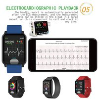E04 Smart Watch ECG PPG Blood Pressure Measurement Smart Band Bluetooth V4.0 IP67 Waterproof Calories Fitness Tracker Bracelet