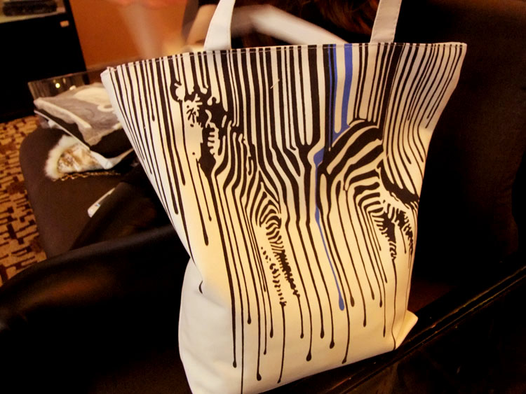 Zebra Pattern Shopper Canvas Women Tote Shopping Bags Casual Handbags 2