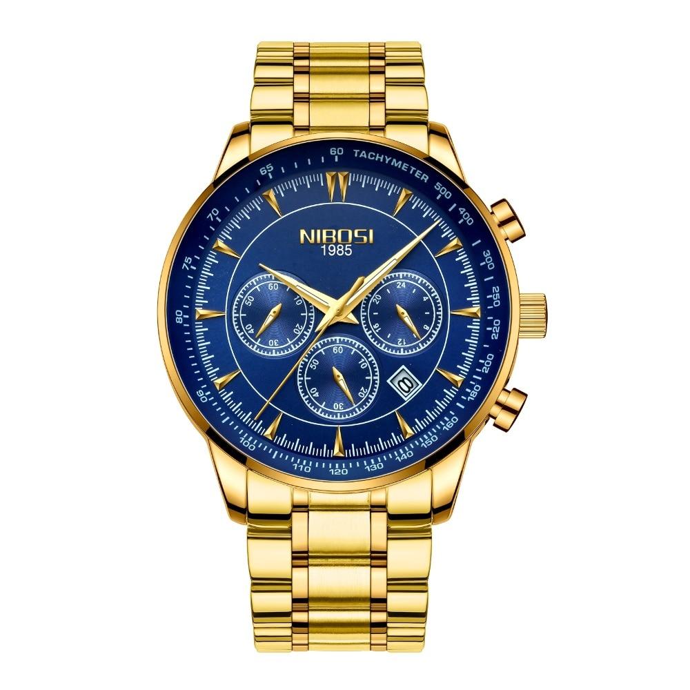Drop ship Men watch NIBOSI Men's Quartz Clock Waterproof Military Wrist Watch Casual Business watch Relogio Masculino Saat 2357