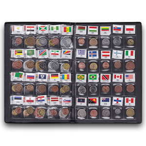 Image 2 - World Coins lot 60 Different country national flag Album Collection 100% original real coin Starter Kit