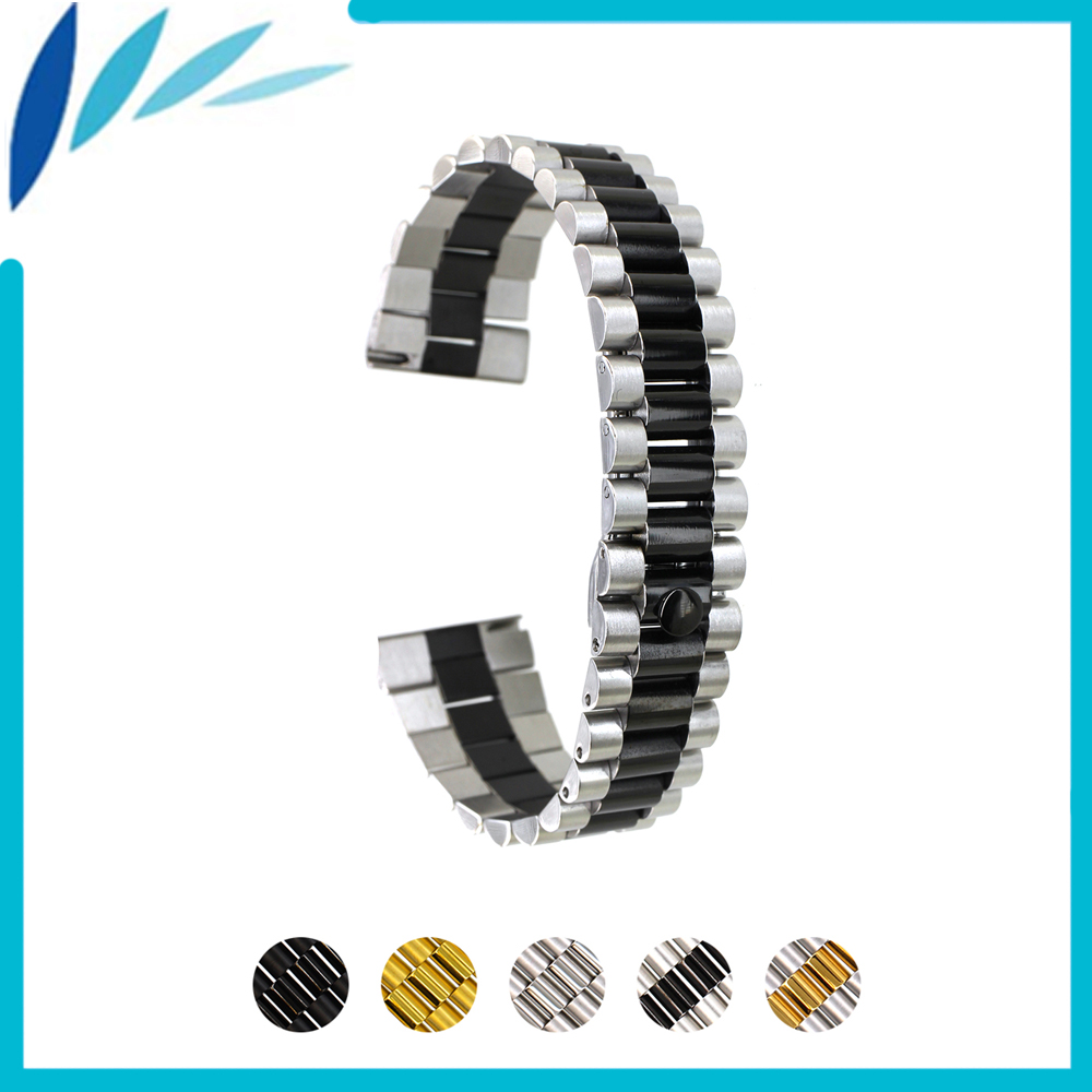 Stainless Steel Watch Band 20mm 22mm for Diesel Quick Release Metal Watchband Strap Wrist Loop Belt Bracelet Black Silver Gold stainless steel watch band 24mm for sony smartwatch 2 sw2 pin clasp strap wrist loop belt bracelet black silver spring bar