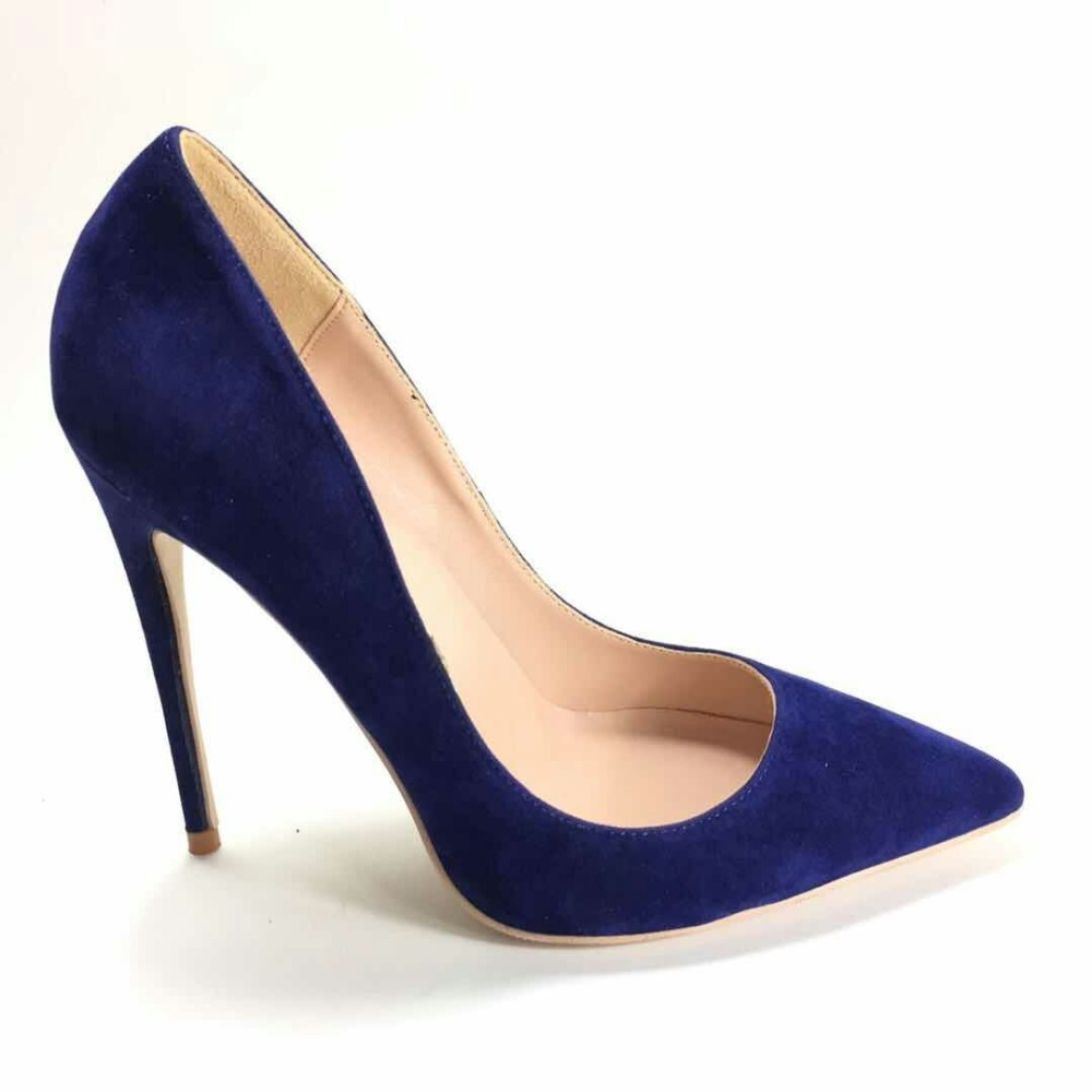 Keshangjia Donne Tacchi Alti Pompe Flock scarpe A Punta Donne Pompe Scarpe Da Donna Sottile Tacco Alto di Grandi Dimensioni 35 44-in Pumps da donna da Scarpe su  Gruppo 3