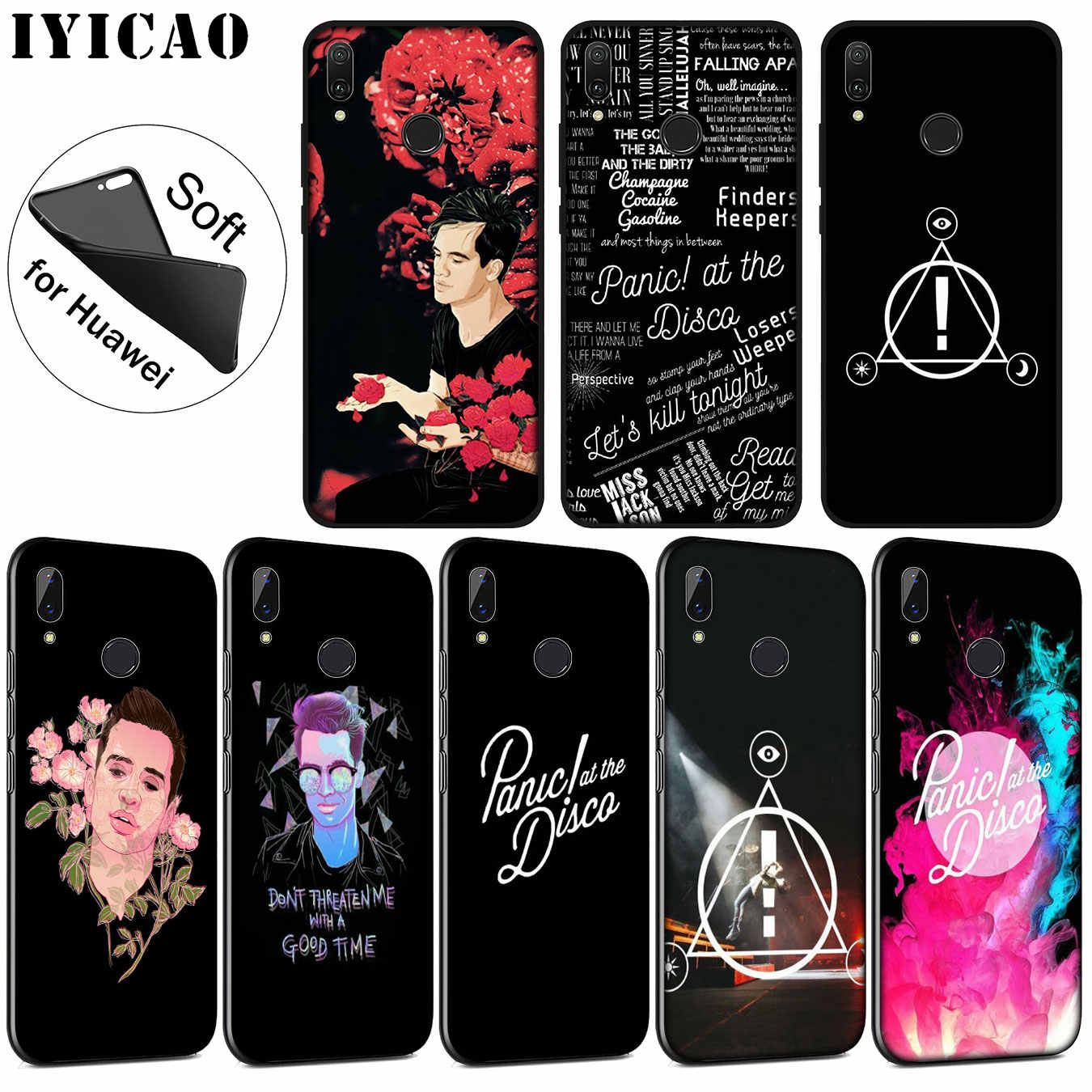 Iyicao Panic At The Disco Lembut Silicone Ponsel Case untuk Huawei P30 P20 Pro P10 P9 P8 Lite Mini 2017 2016 P Smart Z 2019 Cover