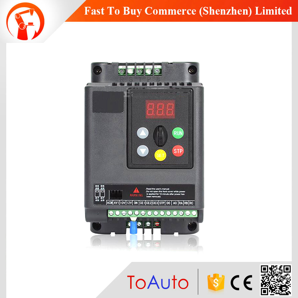 High Performance 4KW 5.4HP Motor Drive VFD 3Ph 380V 9.4A 500Hz Universal for Lathe 3 Phase Asynchronous Motor