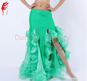 Image 4 - ホット販売! ベリーダンススカート女性ベリーダンススカート女の子ベリーダンスパフォーマンススカート9色女性ダンススカート