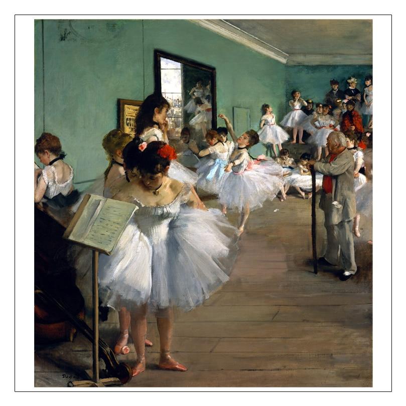 bezrámové plátno malba postava malba obří plakáty Imagich Top 100 výtisků Taneční třída zkouška 1873-76 od Edgar Degas