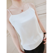 Women Sleeveless Backless Spaghetti Strap Solid Color Chiffon Sexy Loose Casual Top Vest Camis Blouse 2016 Summer New Fashion