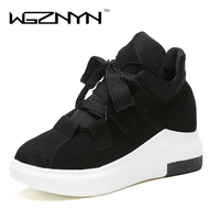 WGZNYN 2017 Fashion Women Platform Casual Shoes Ladies Girls Swing Trainers Shoes Breathable Zapatillas Mujer Chaussures