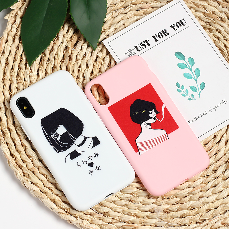 Fitted Cases Cellphones & Telecommunications Frugal Fashion Anime Girl Cute Cat Soft Tpu Silicone Matte Case Fundas Coque Cover For Iphone 8 8plus X 7 7plus X Xr Xs Max Relieving Heat And Sunstroke
