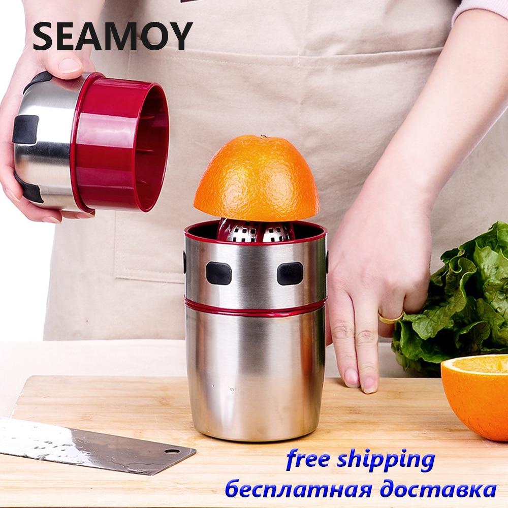 Seamoy Orange Juicer Hand Manual Natural Straw Material Lemon Juice Press Squeezer Fruits Squeezer Citrus Juicer Fruit Reamers