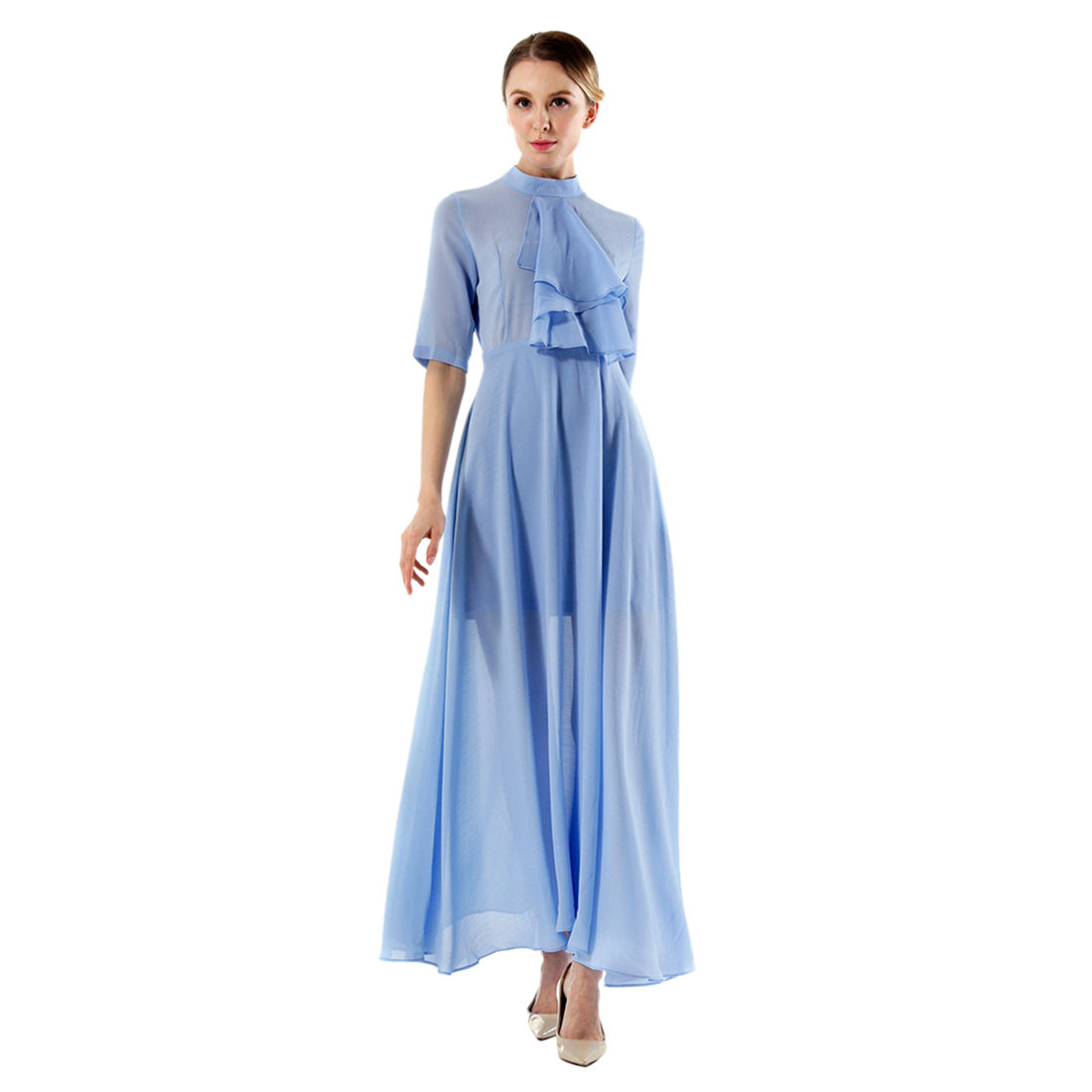 TFGS Original Design Spring Autumn Women High End Chiffon Fairy Dresses Dress Summer Fashion Office Ladies