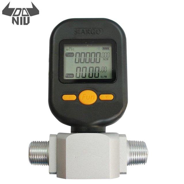 DANIU yeni taşınabilir MF5712 akış ölçer 200L/dak dijital gaz hava azot oksijen kütle akış ölçer Rs485 Modbus protokolü