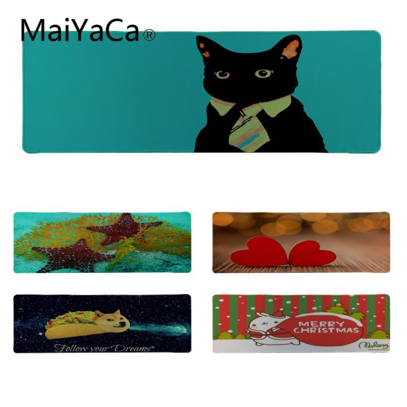 MaiYaCa Cool New best seller Rubber Mouse Durable Desktop Mousepad Size for 30*90cm 30x80cm Laptop Computer Mousepad