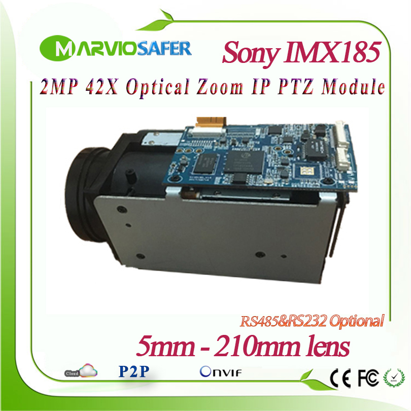2MP 1080P Full HD IP Network PTZ Camera Module 5 210mm long Distance 42X Optical Zoom Lens RS485/RS232 Support PELCO D/PELCO P