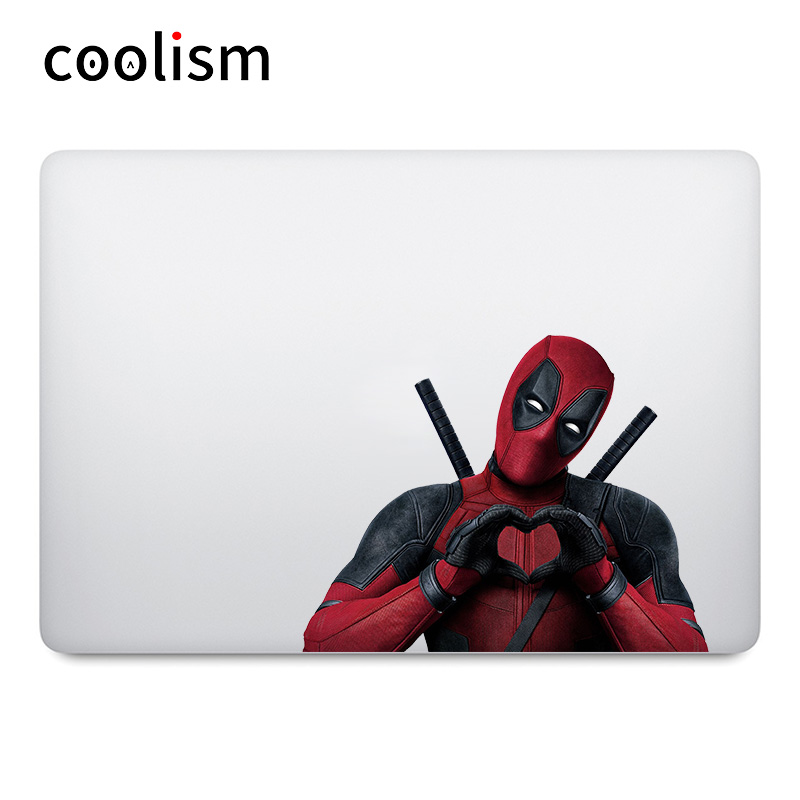 Deadpool Heart Shape Gesture Laptop Sticker for Apple MacBook Sticker Air 13 Pro Retina 11 12 15 inch Mac Mi Book Colorful Decal my counting sticker activity book