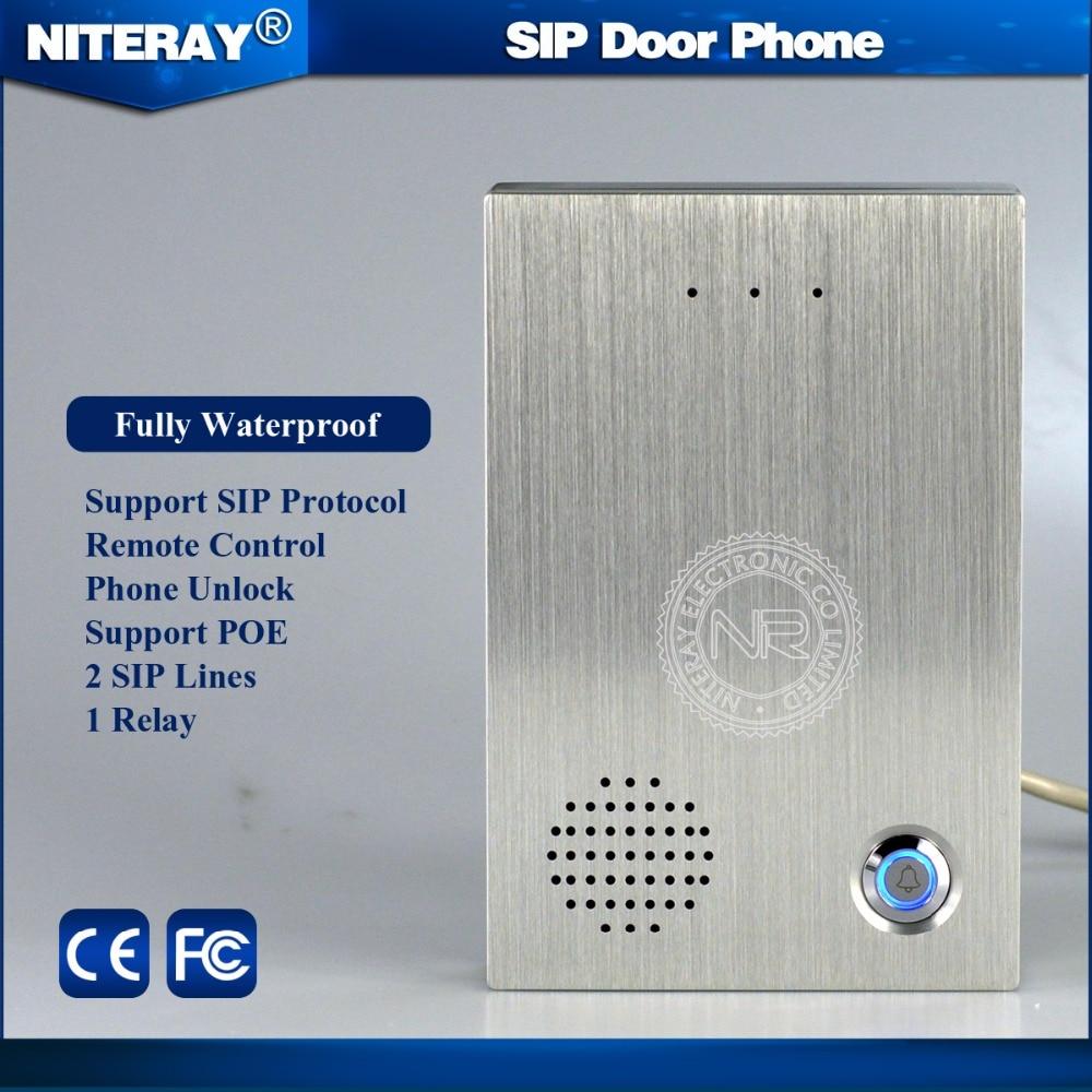 2017 NEW  VoIP Remote Control Intercom Doorbell IP Control Lock support VoIP SIP Phone PBX