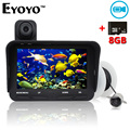 Free Shipping!Eyoyo 20m Fish Finder DVR Video Recorder 6 Infrared LED Underwater Fishing Camera+Overwater Cam+Free 8GB TF Card