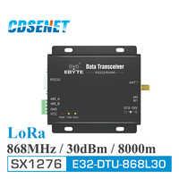 868MHz LoRa SX1276 RS485 RS232 Long Range rf Transceiver E32-DTU-868L30 CDSENET uhf RF Modul DTU Wireless Sender Empfänger