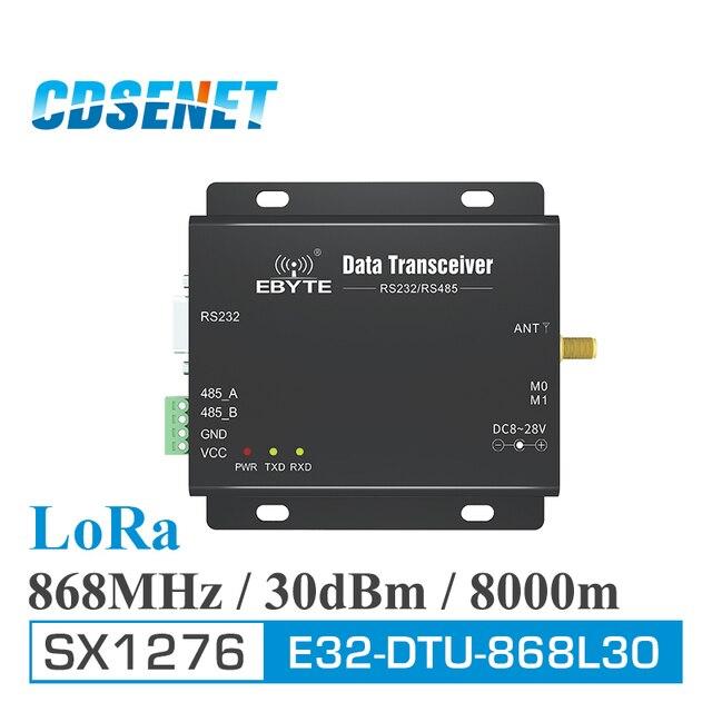 868MHz لورا SX1276 RS485 RS232 طويلة المدى جهاز بث استقبال للترددات اللاسلكية E32 DTU 868L30 CDSENET uhf rf وحدة DTU اللاسلكية جهاز ريسيفر استقبال وإرسال