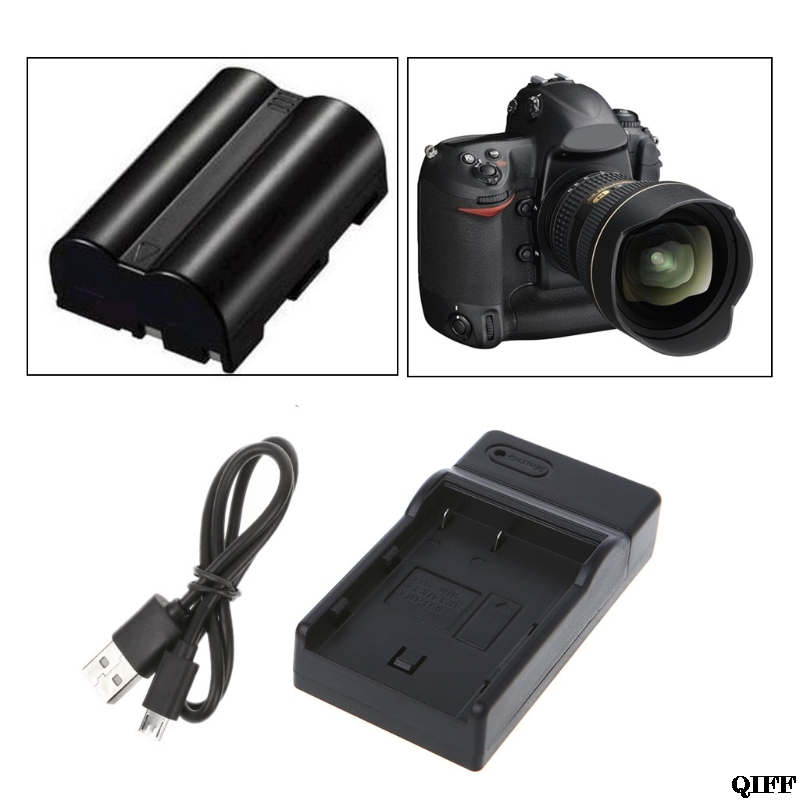 Drop Ship&Wholesale <font><b>Battery</b></font> <font><b>Charger</b></font> For <font><b>Nikon</b></font> EN-EL3E EN-EL3 D100/100SLR/D50/D70/D70S/D200/<font><b>D80</b></font>/D90 APR28 image