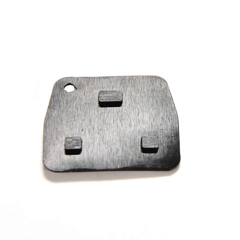 1PC gorąca sprzedaż gumowy klucz Pad 3 przyciski pilot samochodowy etui na klucze podkładki gumowe dla Toyota Avensis Corolla Lexus Rav4