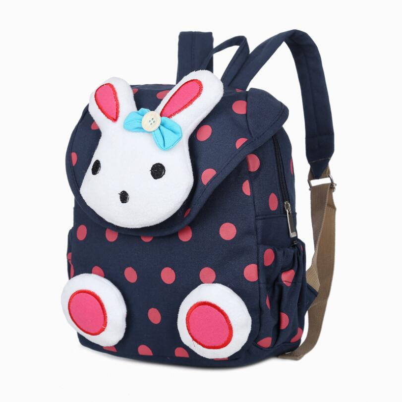 Cute Rabbit Toddler Backpack Softback Canvas Schoolbag Children Gifts Kindergarten Girls School Bag Knapsack Book Bag Mochila
