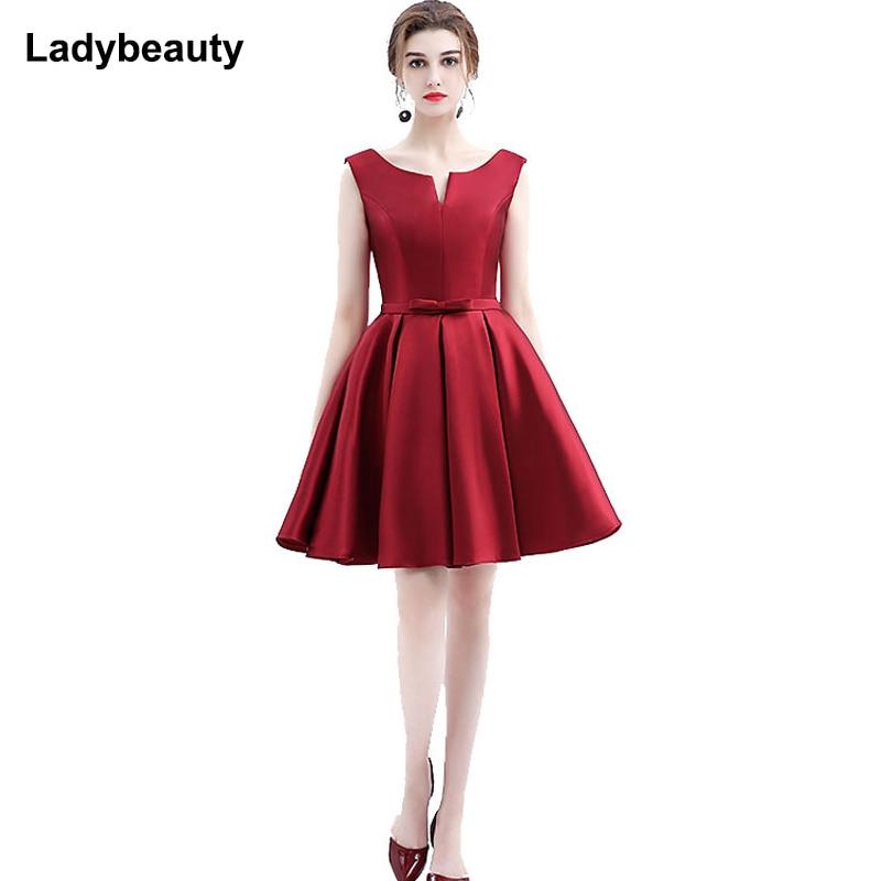 2019 New Design A-line Short Dresses V-opening Back Cocktail Party Lace-up Dress Veatidos De Festa Hot Sale Free Shipping