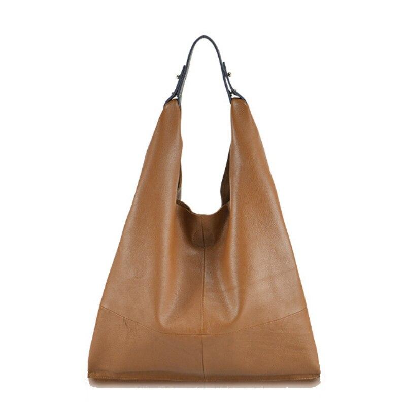 Buyuwant كبيرة النساء حقيبة يد جلد طبيعي حقائب كتف كبيرة التسوق أكياس Mochila sac التمساح حقيبة BM01 SB dpnpdb-في حقائب الكتف من حقائب وأمتعة على  مجموعة 1