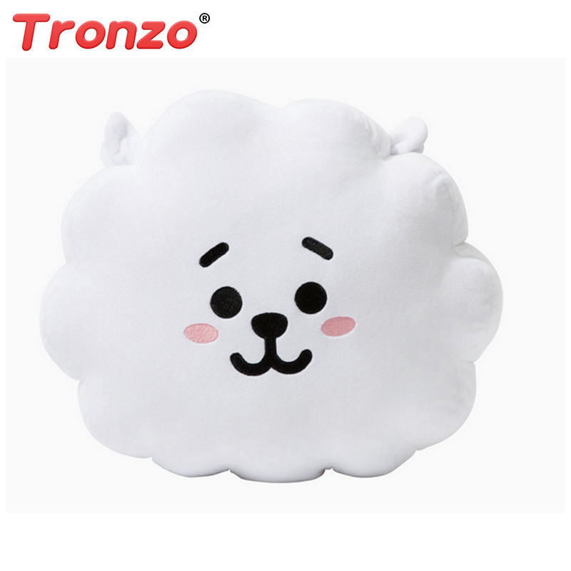 Tronzo 8 Style BTS Bt21 Bangtan Boys Kawaii Pillow Plush Toy cushion TATA VAN COOKY CHIMMY SHOOKY KOYA RJ MANG Gift For Girl