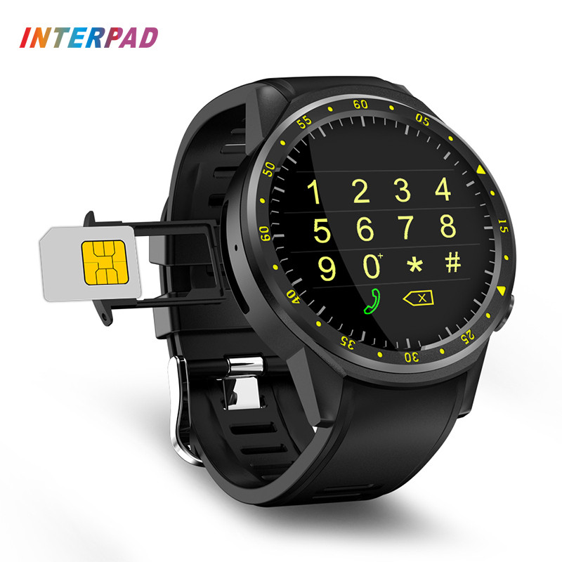 цена Interpad GPS Smart Watch MTK2503 Fitness Tracker Heart Rate Monitor With Camera Compass Support SIM Card Sports Watch For Xiaomi онлайн в 2017 году