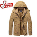 2016 new 100%Cotton Casual Padded Thick Warm Winter Down Jacket for Men Waterproof Parkas Hooded Coat high quality Western style